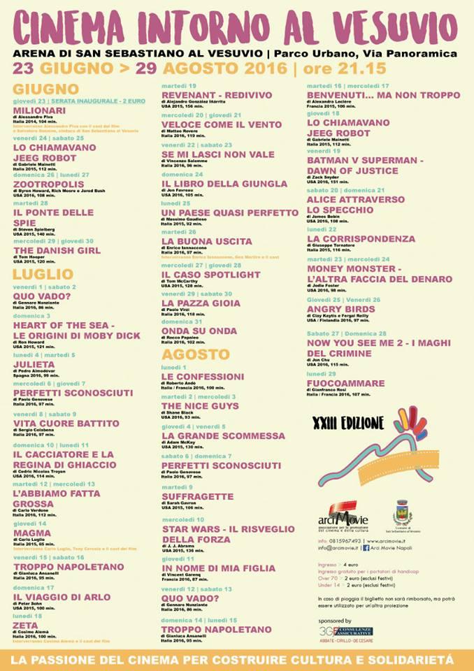 Cinema intorno al Vesuvio - Programma
